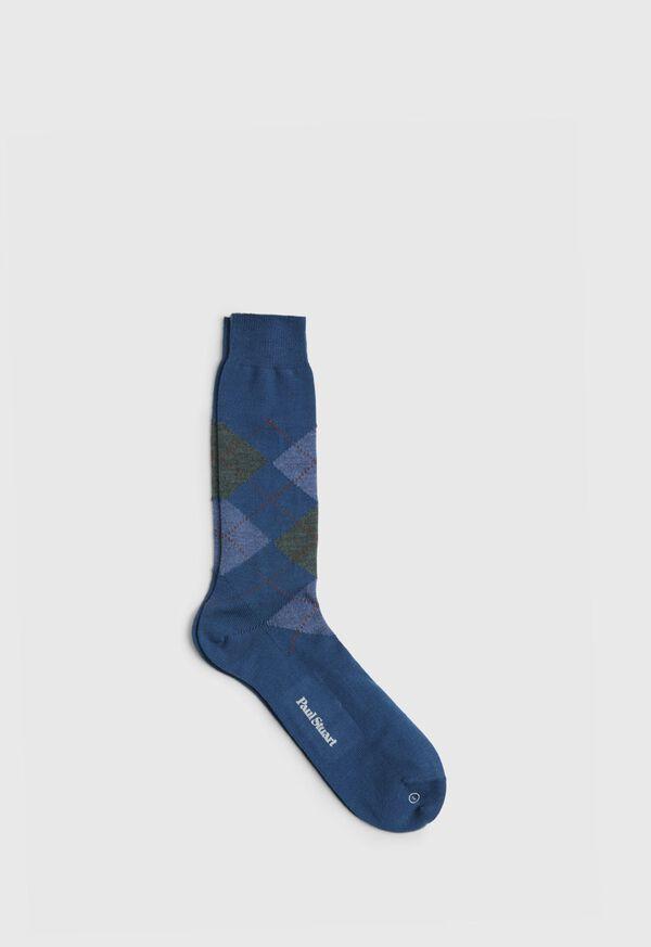 Wool Blend Argyle Sock, image 1