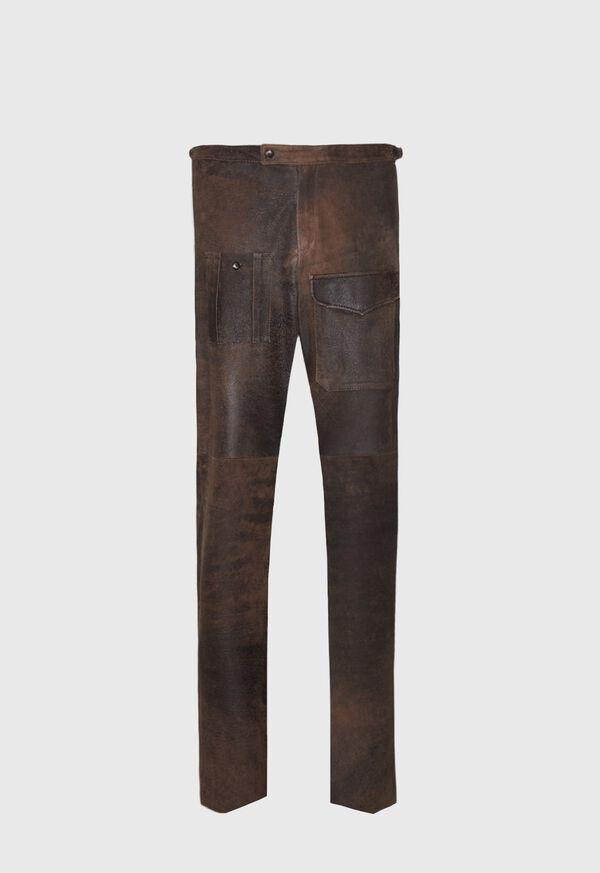 Brown Vintage Leather Pant