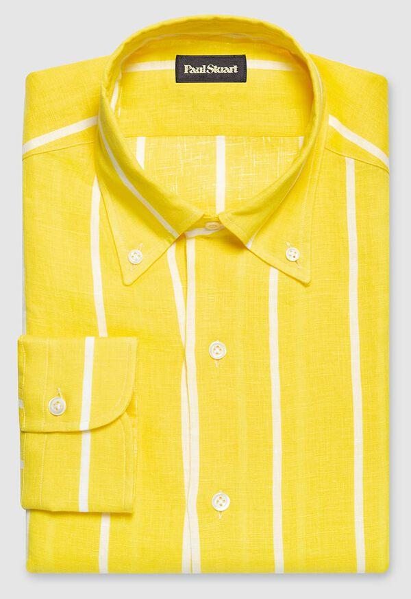 Linen Striped Sport Shirt, image 1