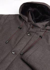 Fur Hooded Parka Coat, thumbnail 4