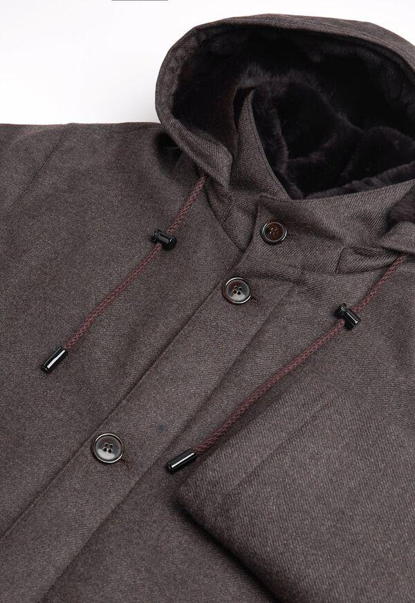 Fur Hooded Parka Coat, image 4