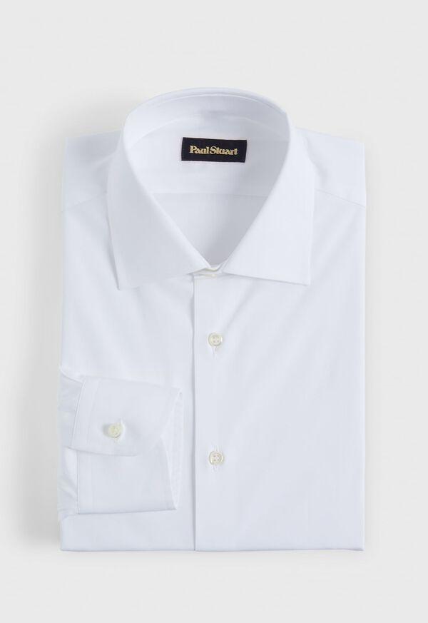 Slim White Poplin Dress Shirt, image 1