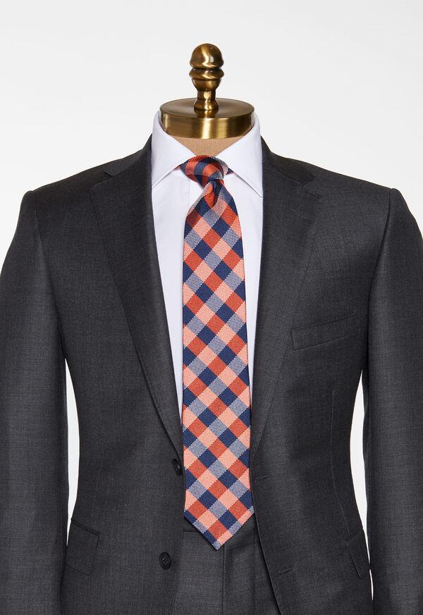 Oxford Check Silk Tie, image 2