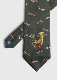 Hunt Motif Silk Tie, thumbnail 1