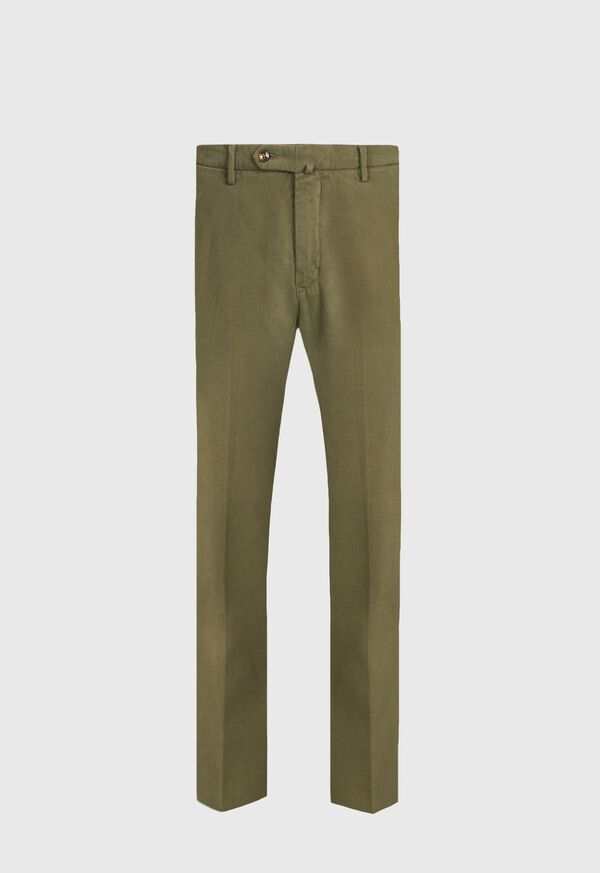Garment Wash Cotton and Cashmere Trouser