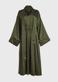 Washed Silk Kimono Sleeve Dress, thumbnail 3