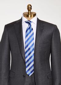Oxford and Satin Stripe Tie, thumbnail 2