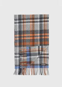 Green and Rust Plaid Scarf, thumbnail 1
