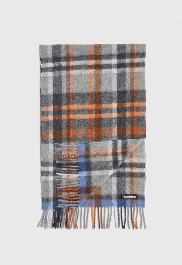 Green and Rust Plaid Scarf