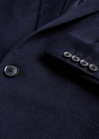 Navy Cashmere Classic Overcoat, thumbnail 2