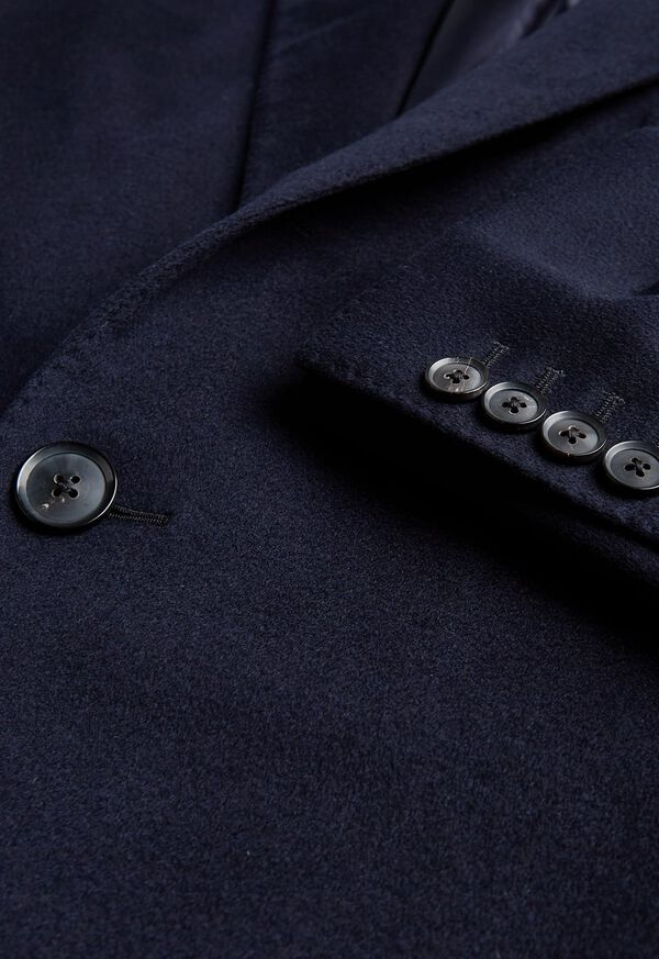 Navy Cashmere Classic Overcoat, image 2
