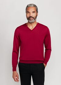 Cashmere and Silk V-Neck Sweater, thumbnail 1