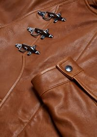 Nappa Leather Jacket with Clips, thumbnail 2