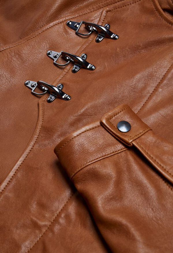 Nappa Leather Jacket with Clips, image 2